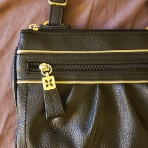 Black Relic Crossbody Purse with gold (bag)